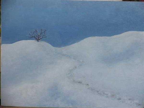 Sérénité (peinture à l'huile) – support bois (24 x 32 cm) – 180 €