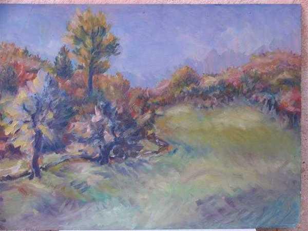 Vallée de la Seine (peinture à l'huile) – support carton encadré (36 x 48 cm) – 380 €