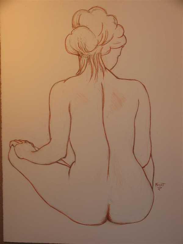 Nu de dos (dessin)